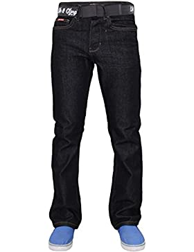 Nuevo Mens Designer Life & Glory Brand Regulat Free Belt Jeans Button Denim Pants