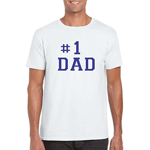 Giftsmate Men's Cotton No 1 Dad Mens T-Shirt For Dad XXL (White)