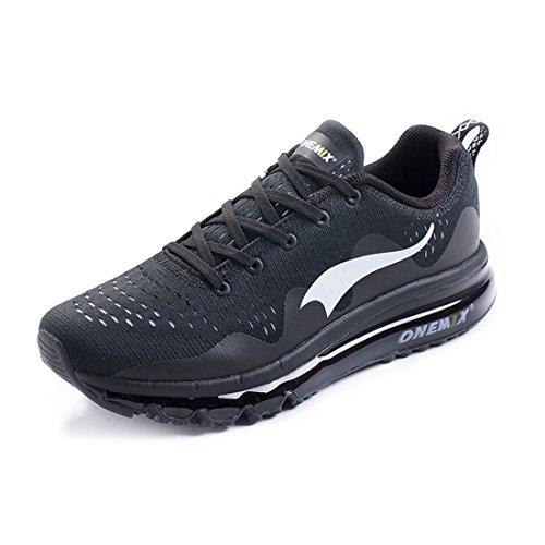 Onemix Air Uomo Mesh Scarpe da Ginnastica Basse Sportive Running Sneakers Fitness Interior Nero Bianco Verde Blue Nero