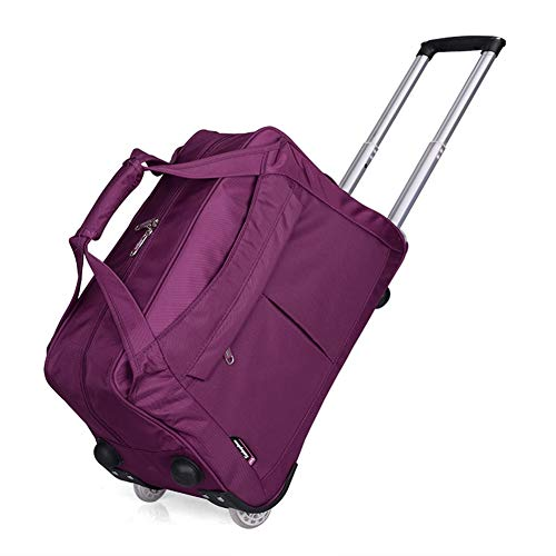 Trolley Bag Leichtes Business-Rollgepäck for Laptops WHSGBB (Color : Purple, Size : 47x26x28cm) -