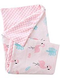 Vosarea Manta de algodón para bebés Manta de Flamenco Rosa para Exteriores para bebés Manta de sueño para bebés