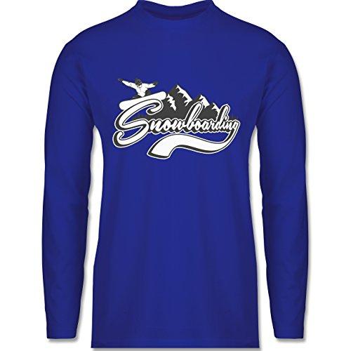 Wintersport - Snowboard Berge - Longsleeve / langärmeliges T-Shirt für Herren Royalblau