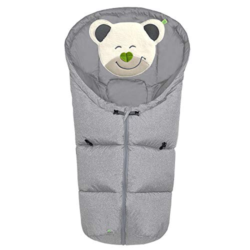 Odenwälder BabyNest Fußsäckchen Mucki fashion | 11437-1078 | passend für Schalensitze der Gruppe 0, Softragetaschen und Hartschalen | new woven soft grey