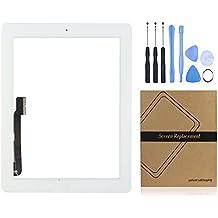 Universal de la compra (TM) iPad pantalla táctil digitalizador Panel Frontal Exterior lente de cristal de repuesto para Apple iPad 3GEN blanco iPad 3 Touch Panel Assembly