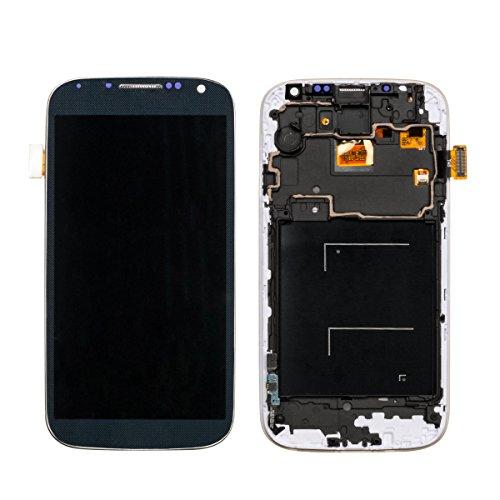 URNICE Pantalla LCD Reemplazo de Pantalla Táctil con Marco para Samsung Galaxy S4 I9505, Negro