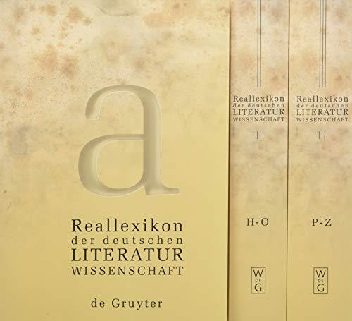Reallexikon der deutschen Literaturwissenschaft, 3 Bde.: Neubearbeitung des Reallexikons der deutschen Literaturgeschichte