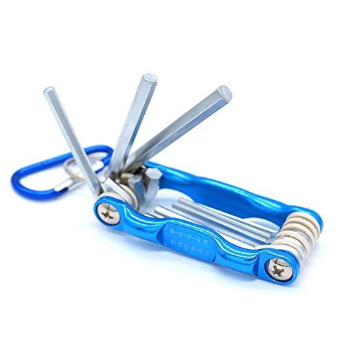 SNOWINSPRING 8 Stücke Tragbare Klapp Schlüssel Set Metrisches System Innen Sechskant Schrauben Schlüssel Reparatur Werkzeuge Metrisches System Innen Sechskant Schraube -