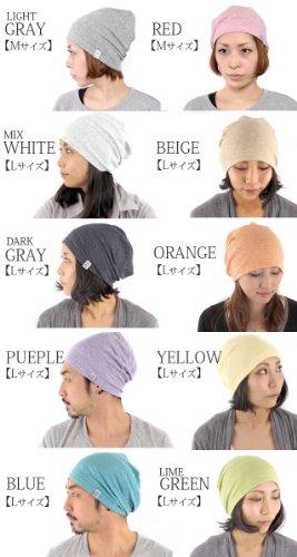 Casualbox Femme fait au Japon chaud tricoter bonnet chapeau bio Gris Clair