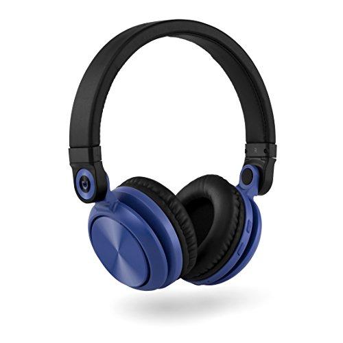 Urbanz Lazer Bluetooth Kopfhörer, Faltbares Kabelloses Headset mit v4.2 Bluetooth und Eingebautem Mikrofon (Blue)