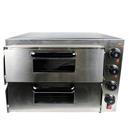 New Twin Stainless Steel 3000 Watt Deck Electric Pizza Oven