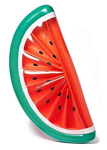 Premium Luftmatratze Wassermelone (180 x 90 cm) Matratze aufblasbar Luft Matratze Luftbett Liege Schwimmliege Schwimmring Schwimm Ring Pool Lounge Water Melone halbrund rot ()