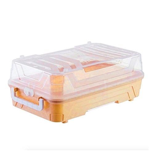Toy storage box - Diadia portable plastic organizer - with capacity for secret game scene Hatchimals CollEGGtibles