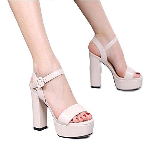 Hyun Times Sandales D'Été Épaisses avec des Chaussures à Talons Hauts