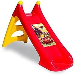 Smoby 820613 Cars 3 - Tobogán de Plástico para Niños de 2-4 Años, Rojo/Amarillo, XS, 125 x 50 x 75 cm