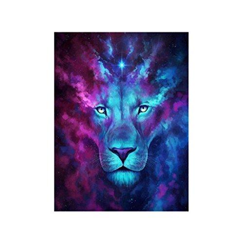 Homyl 5D Peintures de Bricolage de Diamant Accessoire DIY Décoration Maison Artisanat Décor Mur - Lion animal