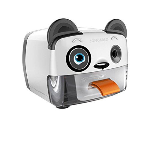 Elektro-Anspitzer,Batterie(Enthält Keine Batterie) &USB Betrieben,Spitzenpunkt Einstellbar,Heavy Duty Single Holes Anspitzer Für Kinder Mit Auto Feature,Perfekt Für Haus,Klassenzimmer Und Büro,Panda (Automatische Messer Release)