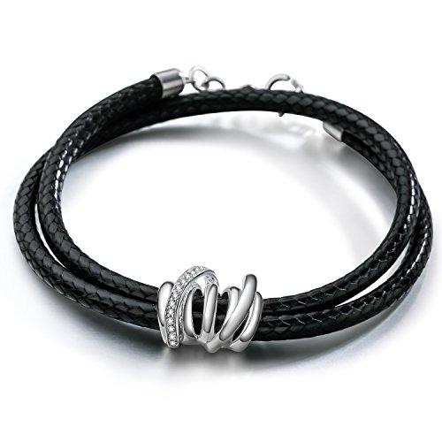 silverage-bracelet-corde-tressee-noire-charm-en-argent-925