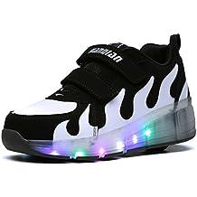 Viken Azer-UK Unisex LED Automática de Skate Varios Colores Zapatillas con Ruedas Zapatos Patines