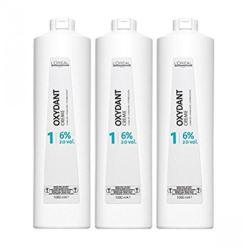 Loreal 6% Oxydant Creme 3 x 1000 ml H2O2 LP Peroxid 20 Vol. Oxidationscreme