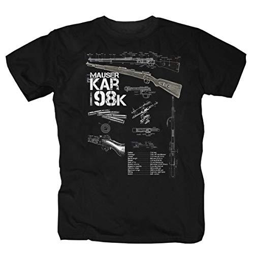 Karabiner 98 T-Shirt (XXXL) - Und Heckler Waffen Koch