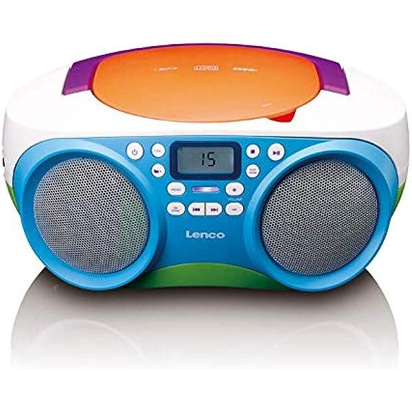 Lenco Scd 41 Cd Player Für Kinder Cd Radio Stereoanlage Boombox Ukw Radiotuner Usb Anschluss Mp3 2 X 1 W Rms Leistung Netz Und Batteriebetrieb Bunt Heimkino Tv Video