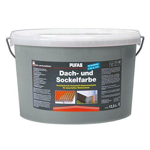 PUFAS Dach- und Sockelfarbe steingrau 12,5 Liter