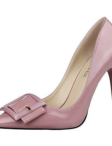 WSS 2016 Chaussures Femme-Extérieure / Habillé-Noir / Vert / Violet / Rouge / Blanc / Gris-Talon Aiguille-Talons / Bout Pointu-Talons-PU gray-us8 / eu39 / uk6 / cn39