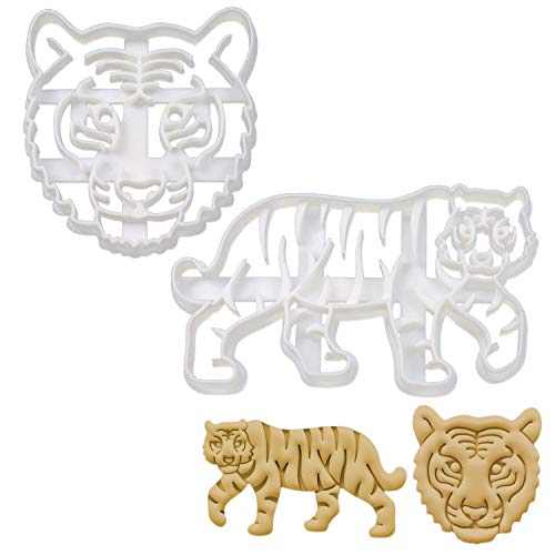 Bakerlogy 2er Set Tiger Ausstechformen (Formen: Tiger Gesicht und Tiger Körper), 2 Teile