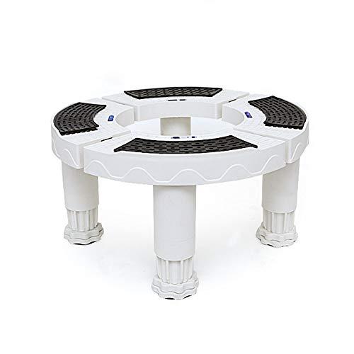 Plateau des ménages Base Ronde pour climatiseur, étagère cylindrique à Hauteur de Coussin Verticale et Tablette de Support Verticale, capacité de Charge 300 kg
