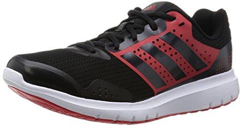 Adidas Duramo 7 M Scarpe da corsa, Uomo, Nero / Rosso (Negbas / Negbas / Rojint), 43 1/3