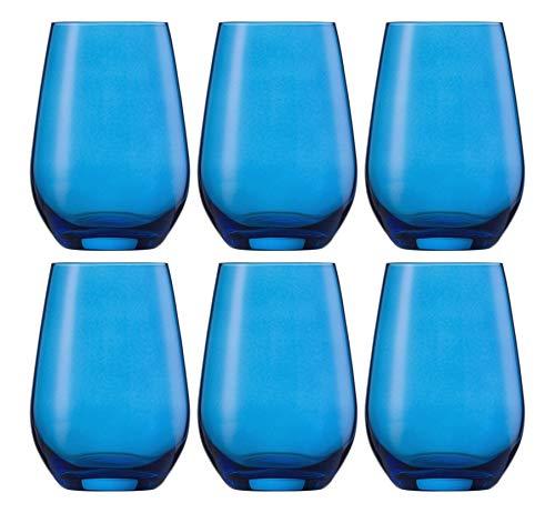 Schott Zwiesel Wasserglas, Glas, blau, 28.7 x 19.6 x 13.3 cm, 6-Einheiten -