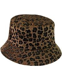 ACVIP Women s Fall Winter Leopard Print Bucket Hat Fishing Cap Packable 77f5f65eff2e
