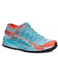La Sportiva Mutant Woman Ice - Deportivos de running para mujer, color azul / coral, talla 39.5