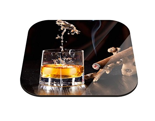 Klebefieber Untersetzer Whiskey-Glas B x H: 10cm x 10cm - 6er Pack