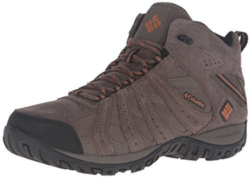 Columbia Redmond Mid Leather Omni-Tech, Scarpe da Arrampicata Uomo Beige (Mud/ Bright Copper)