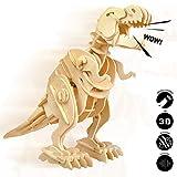 Robotime Madera Jigsaw Puzzle 3D Dinosaurios Montar Wood Craft Mejor Cumpleaños...