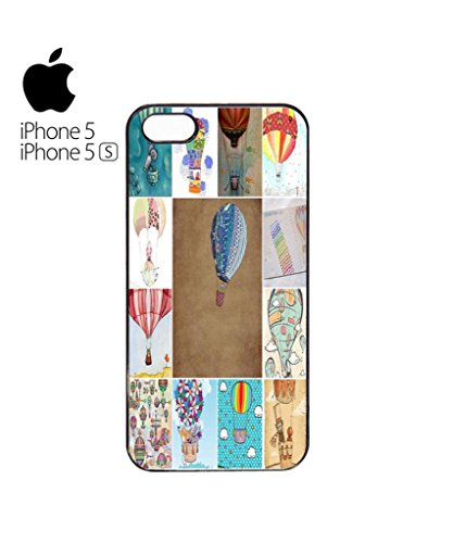 Balloon Fun Holiday Mobile Cell Phone Case Cover iPhone 5c Black Blanc