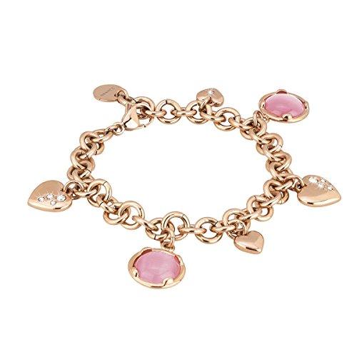 2Jewels Balloon Armband für Damen mit Zirkonia Edelstahl rosévergoldet antialergen 20 cm 231422