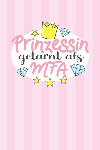 Prinzessin getarnt als MFA: Praktischer Wochenplaner / Notizbuch für ein ganzes Jahr ohne festes Datum - 15x23cm (ca. DIN A5)