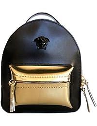 e814bb0181 Versace zaino borsa in pelle donna DBFF717 DPALM KONOS nero oro