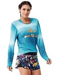 T-Shirt Manches Longues Worth it Bleu - Caju Brasil