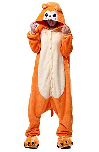 Kenmont Enfants Adulte Unisexe Animal Costume Cosplay Combinaison Licorne Pyjama Nuit Vêtements Soirée de Déguisement (M, Monkey)