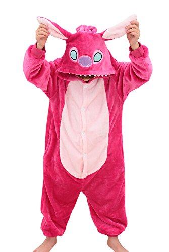 Imagen de tonwhar® niños de halloween disfraces niños kigurumi pijama animal cosplay stitch rosa