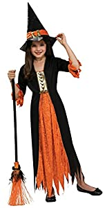 Halloween - Disfraz de Bruja gótica para niña, Talla S infantil 3-4 años (Rubie