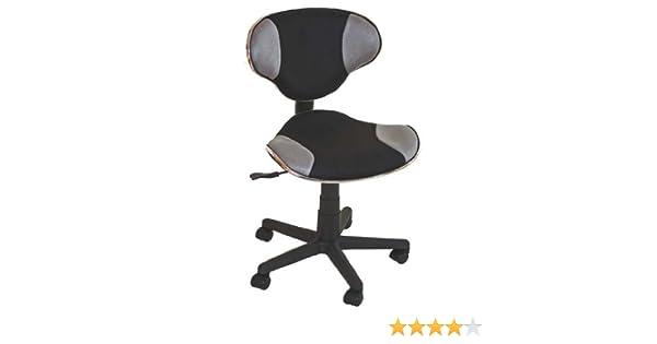 Mendler chaise de bureau genua gris forme ergonomique amazon