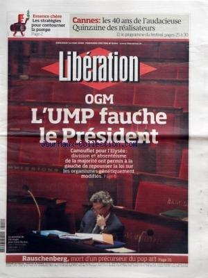 LIBERATION [No 8404] du 14/05/2008 - ESSENCE CHERE...