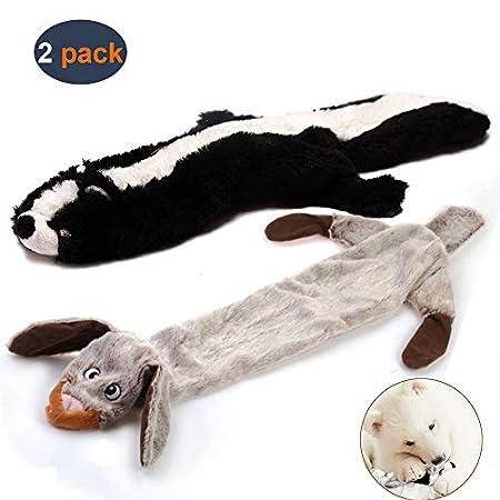 Hundespielzeug mit Quietschelement, langlebiges Hundespielzeug aus Plüsch, mit Quietschelement, für mittelgroße und…