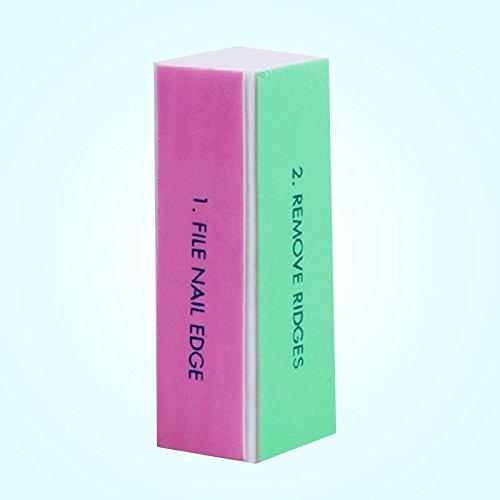 attachmenttou Outil Vernis à ongles Edge fichier tampon Bloc Briller Professional Beauty quatre côtés