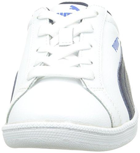 Puma Puma Smash FUN L Jr, Sneakers basses mixte enfant Blanc (White/Peacoat)