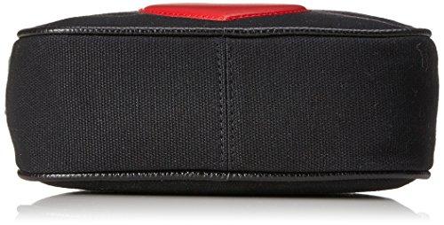 Love Moschino Damen Leinwand-Logo-Clutch-Tasche Schwarz Schwarz (Black Canvas)